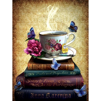 Puzzle Sunsout-42979 Pièces XXL - Tea and Books