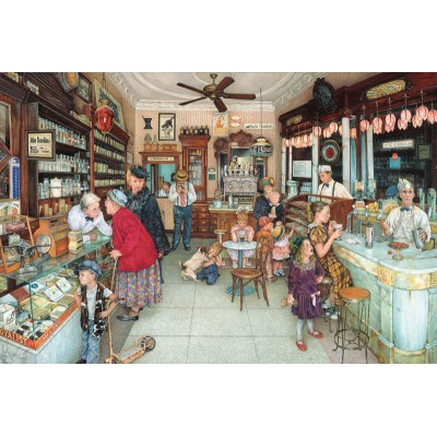 Puzzle Sunsout-44274 Susan Brabeau - Soda Fountain