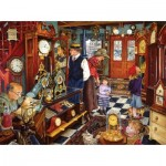 Puzzle  Sunsout-44652 Susan Brabeau - The Clock Shop