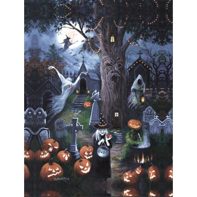 Puzzle Sunsout-45402 Pièces XXL - Halloween Night