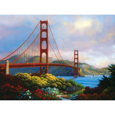 Puzzle Sunsout-48511 Pièces XXL - Morning at the Golden Gate