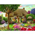 Puzzle  Sunsout-48624 Adrian Cherterman - Wishing Well Cottage
