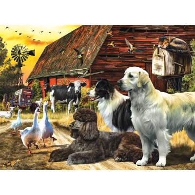 Puzzle Sunsout-49002 Farm Lives Matter