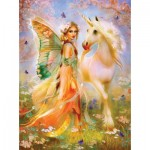 Puzzle  Sunsout-49006 Bente Schlick - Fairy Princess and Unicorn
