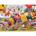 Puzzle  Sunsout-52406 Gale Pitt - Balloon Landing