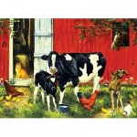Puzzle  Sunsout-52624 Linda Picken - Old MacDonald's Farm