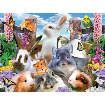 Puzzle Sunsout-54928 Pièces XXL - Howard Robinson - Backyard Friends