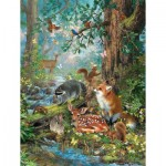 Puzzle  Sunsout-59788 Pièces XXL - Woodland Forest Friends