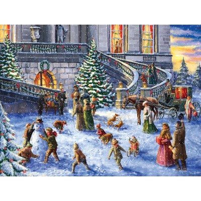 Puzzle Sunsout-60617 Pièces XXL - A Traditional English Christmas