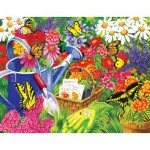 Puzzle  Sunsout-62902 Pièces XXL - Nancy Wernersbach - A Home for Butterflies