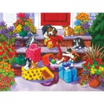 Puzzle  Sunsout-62906 Nancy Wernersbach - Time for Toys and Treats