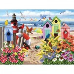 Puzzle  Sunsout-63002 Nancy Wernersbach - At Home by the Sea