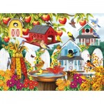Puzzle  Sunsout-63009 Nancy Wernersbach - Autumn Backyard