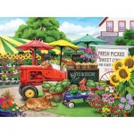 Puzzle  Sunsout-63016 Pièces XXL - Nancy Wernersbach - Farm Stand Bounty