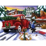 Puzzle  Sunsout-63023 Pièces XXL - Bringing Home the Tree
