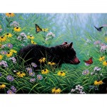 Puzzle  Sunsout-69601 Pièces XXL - Black Bear and Butterflies