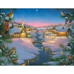 Puzzle  Sunsout-69609 Pièces XXL - Abraham Hunter - A Winter's Silent NIght