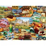 Puzzle  Sunsout-70076 Kate Ward Thacker - South Dakota