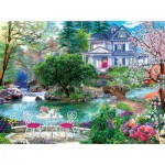 Puzzle  Sunsout-70630 Pièces XXL - Waterside Tea