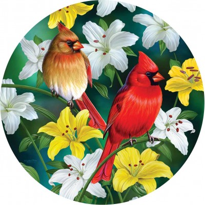 Puzzle Sunsout-70965 Pièces XXL - Cardinals in the Round