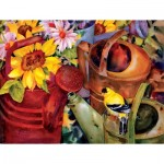Puzzle  Sunsout-71047 Pièces XXL - Watering Can Visitor