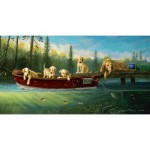 Puzzle  Sunsout-71196 Pièces XXL - Fishing Lessons