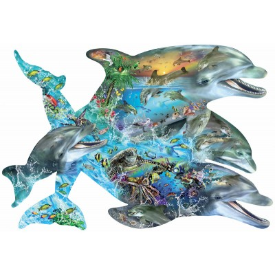 Puzzle Sunsout-95264 Lori Schory - Song of the Dolphins