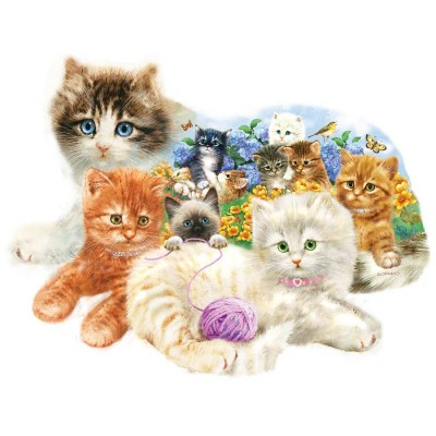 Puzzle Sunsout-95958 Giordano Studios - A Litter of Kittens