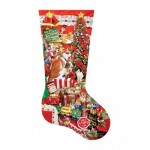 Puzzle  Sunsout-96014 Pièces XXL - Lori Schory - Kitty Stocking