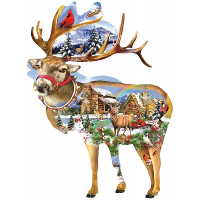 Puzzle Sunsout-97295 Lori Schory - Reindeer Training