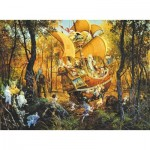 Puzzle  Sunsout-CN67512 James Christensen - Flight of the Fablemaker