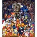 Puzzle   Pièces XXL - Cats and Dogs on Halloween