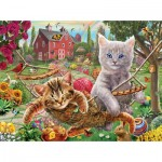 Puzzle   Pièces XXL - Cats on the Farm