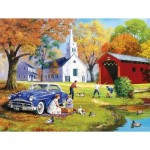 Puzzle   Pièces XXL - Family Time by the River