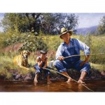 Puzzle   Pièces XXL - Fishing With Grandpa