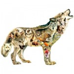 Puzzle   Pièces XXL - Greg Giordano - Native American Wolf