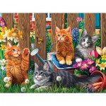 Puzzle   Pièces XXL - Kittens in the Garden
