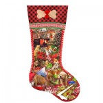 Puzzle   Pièces XXL - Lori Schory - Puppy Stocking