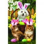 Puzzle   Pièces XXL - Tom Wood -  Easter Bunny in Training