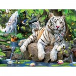 Puzzle   Pièces XXL - White Tigers of Bengal