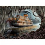 Puzzle  Sunsout-WS51004 Roberta Wesley - Night on the River