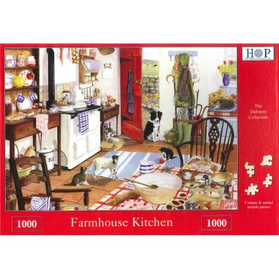 Puzzle The-House-of-Puzzles-1691 Farmhouse Kitchen