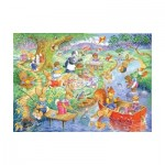 Puzzle  The-House-of-Puzzles-1844 Pièces XXL - Picnic Time