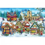 Puzzle  The-House-of-Puzzles-1943 Pièces XXL - Village Life