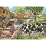 Puzzle  The-House-of-Puzzles-2223 Pièces XXL - Oak Tree Farm