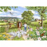 Puzzle  The-House-of-Puzzles-3022 Pièces XXL - Goosey Gander