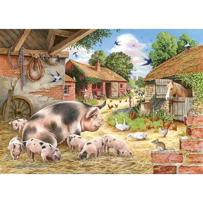 Puzzle The-House-of-Puzzles-3534 Pièces XXL - Poppy's Piglets