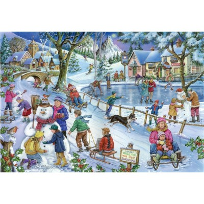 Puzzle The-House-of-Puzzles-3589 Trouvez les 15 Différences No.9 - Frosty & Friends