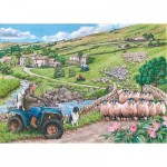 Puzzle  The-House-of-Puzzles-4371 Pièces XXL - Round Up