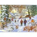 Puzzle  The-House-of-Puzzles-4388 Pièces XXL - Snowy Walk